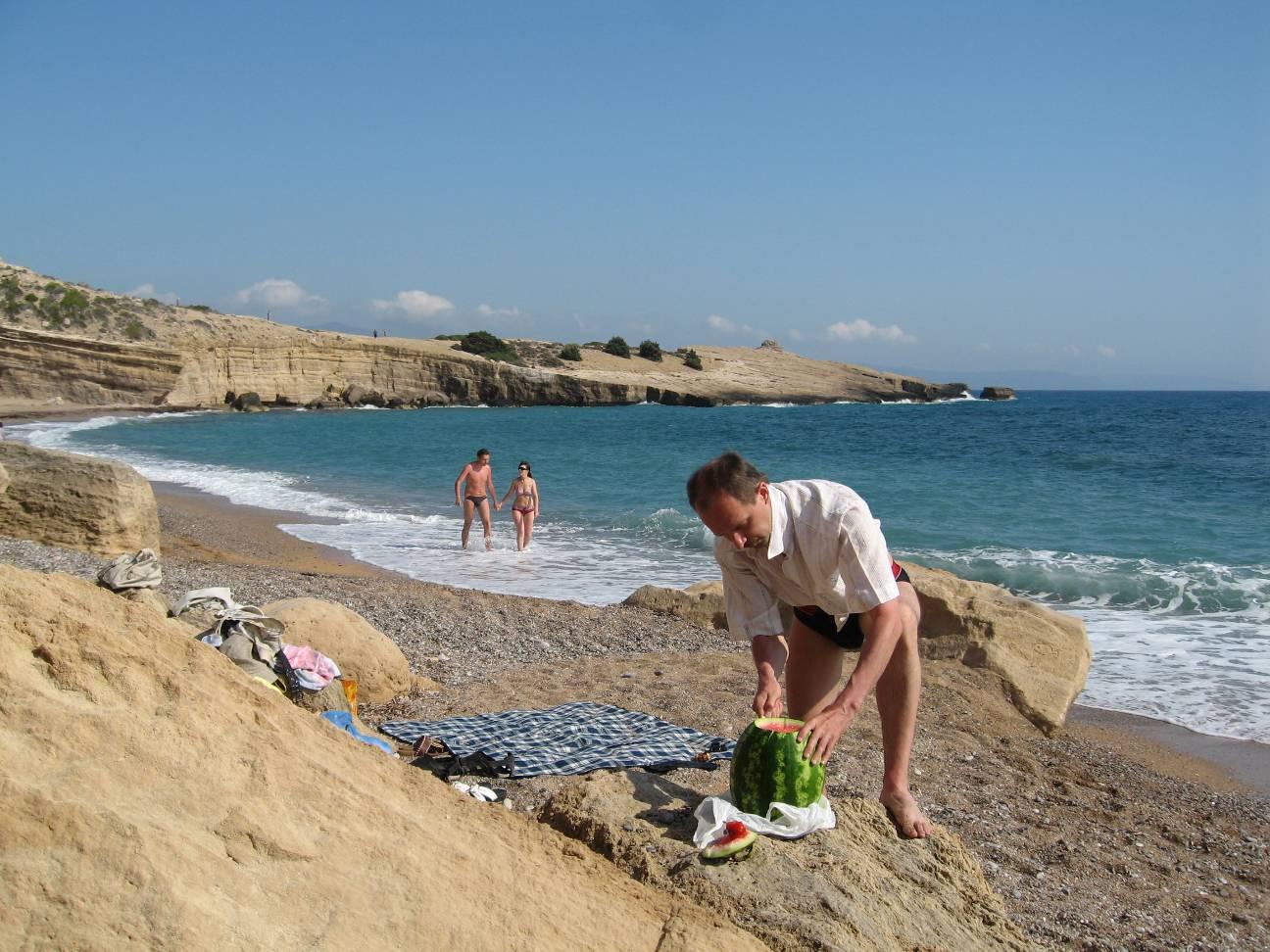 Родос пляж